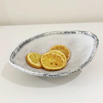 「丹羽あかね 青彩 楕円鉢」