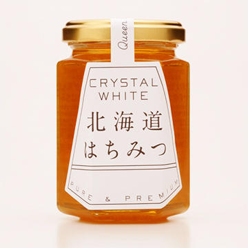 CRYSTAL WHITE 北海道はちみつ 190g(国産純粋シナはちみつ)