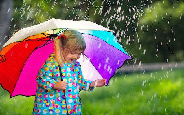 雨の日でも