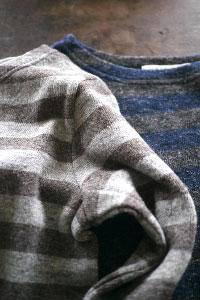 Wool linen knit border PU