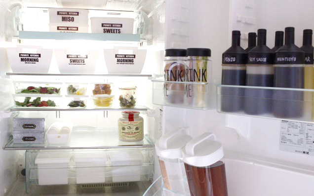 モノの住所を決めるだけ! 100均・無印グッズで簡単スッキリ冷蔵庫収納術