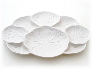 Divided Lotus Leaf Plate