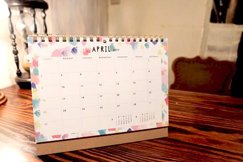 2017 シック 卓上カレンダー