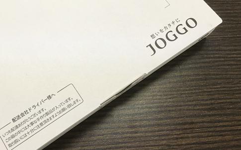 (「JOGGO」の「カスタムする時間も贈り物」というコンセプトを表現した梱包)