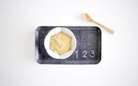 豆乳ときなことバナナのオートミール粥
