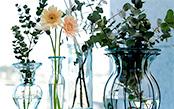 ただ飾るだけじゃつまらない。シンプルな切り花に合う素敵な花瓶を探しませんか?