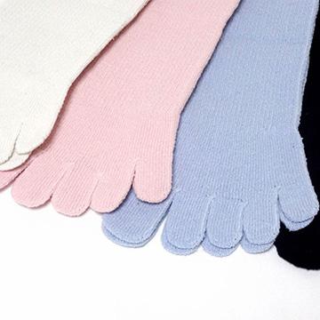 つむぎシルク(絹紬糸)の五本指靴下