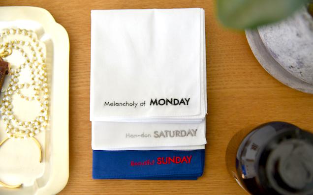 プレゼントにぴったり!毎日を楽しむハンカチ「&NUT」の一週間手巾