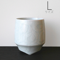 キハラ 香酒盃 L 白巻紋