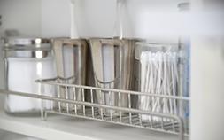 無印良品のワイヤーグッズで洗面室&バスルームアイテムをスッキリ収納