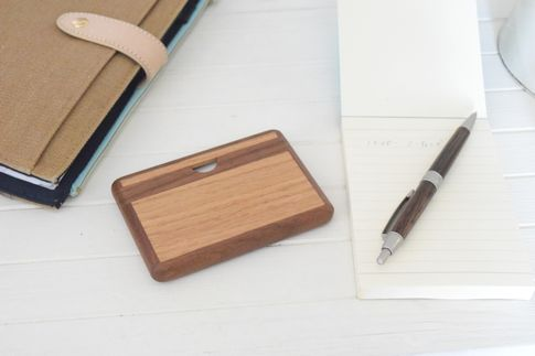 木製横型名刺ケース