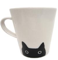 【Atsuko Matano】黒猫マグカップ(2個セット)