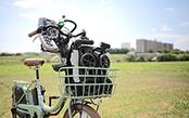 自転車のカゴにも入る 超小型ベビーカー「ポキット」の話