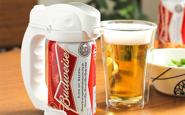 いつでもどこでも、濃厚でフワフワな泡のビールが飲める