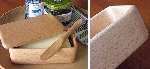 ブナの木のバターケース