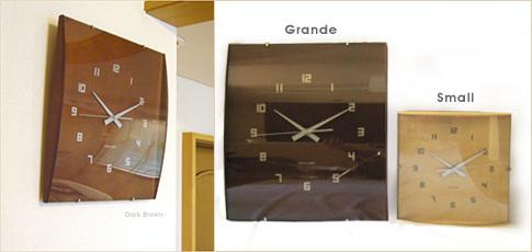 IDEA ウッドガラスクロック グランデ  IDEA ウッドガラスクロック スモール