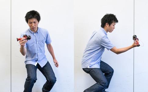 プレイトイ事業部の熊谷悠岐さんが「MoshiKameスパイク」と呼ばれるトリックを披露してくれました。