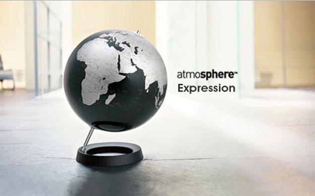 地球儀が部屋を知的に彩る。
