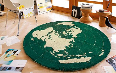 円形ラグマット GLOBE