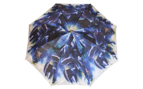 水茄子の写真のコラージュの雨傘「BLUE JEWEL」