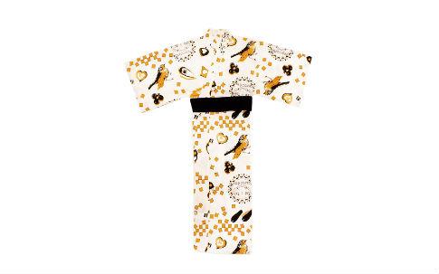 ツェツェ・アソシエが描き下ろしたイラストで作った浴衣
