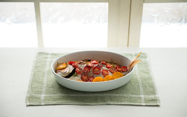 魚洋風レシピその3:鯛のオーブン焼き