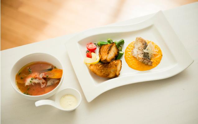 魚洋風レシピその1 朝ごはん魚料理(洋風塩煮風スープと鯛のハーブ焼き)