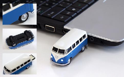 オートドライブ ワーゲンバス USBフラッシュメモリー 8GB