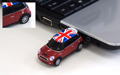オートドライブ ミニクーパー ユニオンジャック USBフラッシュメモリー 8GB